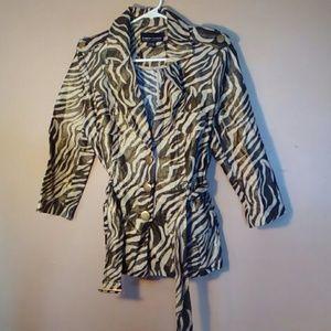 Robert Louis Medium Metallic Zebra Print Jacket
